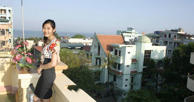 Ban công khách sạn Bưu Điện Sầm Sơn