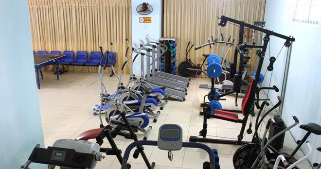 Phòng tập thể dục với thiết bị tối tân nhất