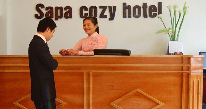 Sảnh khách sạn Cozy Sapa